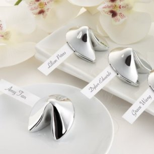 silver-fortune-cookie-place-card-holder