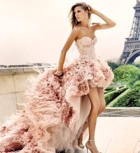 pink-feather-wedding-dress