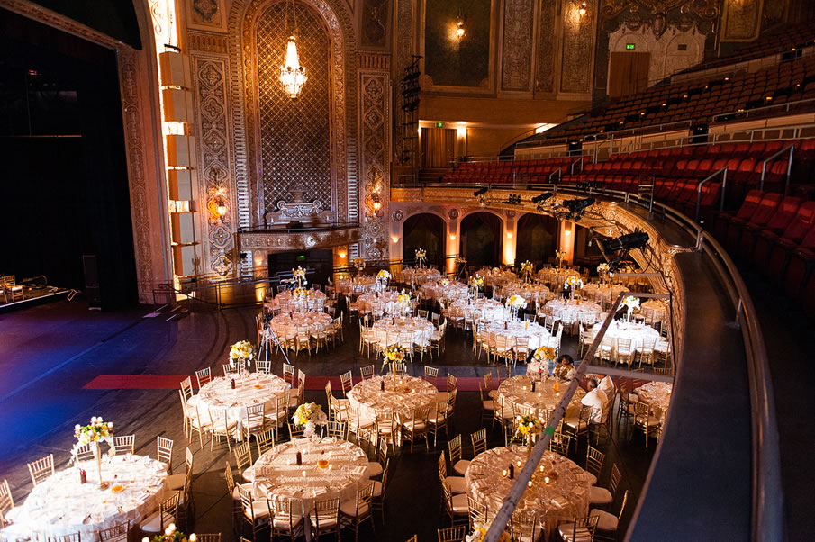 Seattle Paramount Theatre Wedding Venue Via Solomon Event